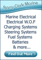 Barry Clark Marine. Marine electrical, electrical WOF, charging systems, steering systems, fuel systems, batteries, instruments, engine wiring, alternators,