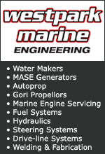 Westpark Marine. Open Ocean Water Makers, Johnson Pumps, MASE Generators, Python- Drive, Autoprop, Agip Lubricants, Gori Propellors, Trident Marine Hose, Machining, Marine Engine Servicing, Fuel Systems, Hydraulics, Steering Systems, Marine Plumbing, Drive-line Systems, Stainless, Aluminium, Mild Steel, Welding & Fabrication.
